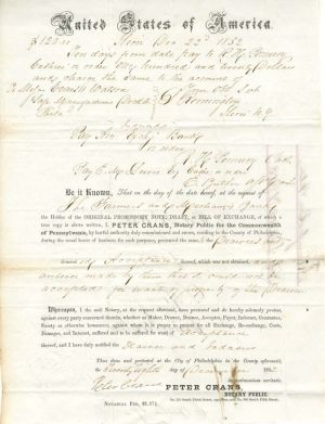 Promissory Note Autographed by Samuel Remington