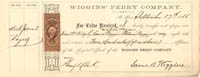 Wiggins Ferry Company signed by Samuel B. Wiggins - SOLD
