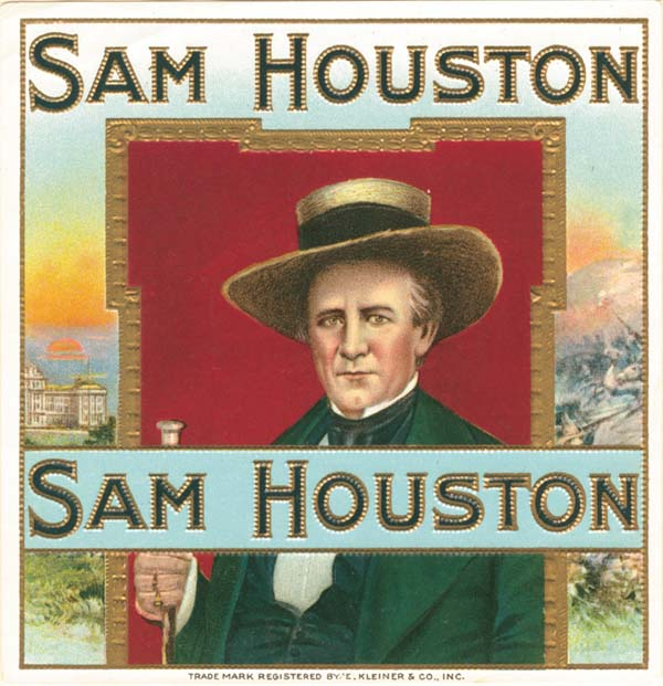 Cigar Box Labels - Sam Houston