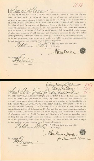2 Documents signed by Samuel Sloan