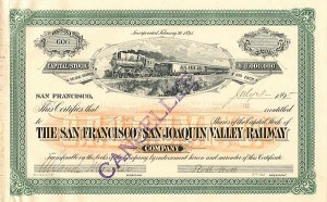 San Francisco and San Joaquin Valley Railway Company