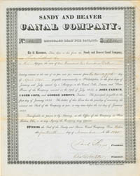 Sandy and Beaver Canal Company - SOLD
