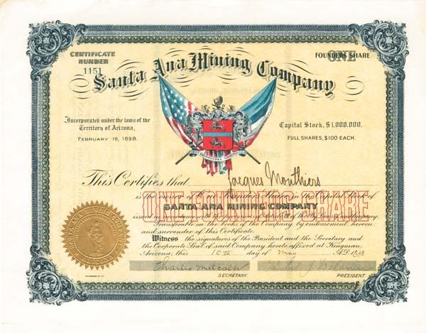 Santa Ana Mining Company - SOLD