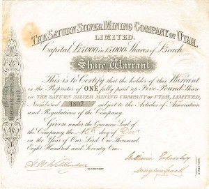 Saturn Silver Mining Company of Utah, Limited