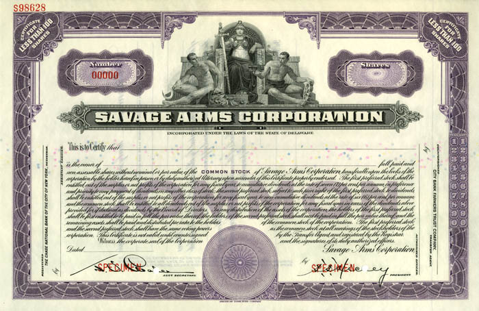 Savage Arms Corporation Specimen