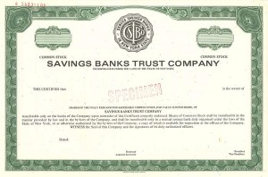 Savings Banks Trust Company - SOLD