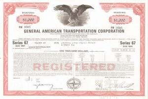 General American Transportion Corporation - Bond
