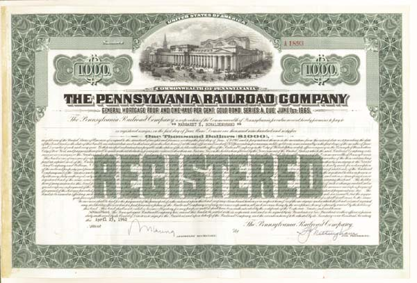 Pennsylvania Railroad Company - Bond