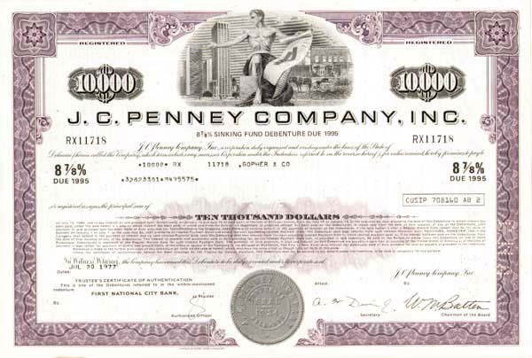 J. C. Penney Company, Incorporated - Bond