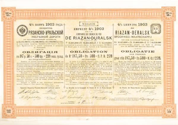 Compagnie Du Chemin de Fer de Riazan-Ourals