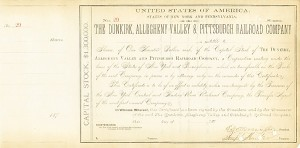 Dunkirk, Allegheny Valley & Pittsburgh Railroad