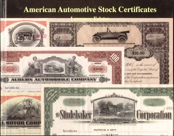 American Automotive Stock Certificates by Lawrence Falater