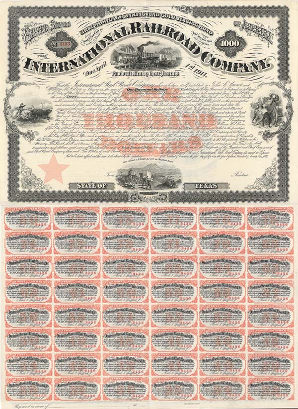 International Railroad Company - Bond