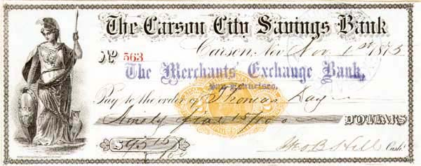 Carson City Savings Bank - SOLD