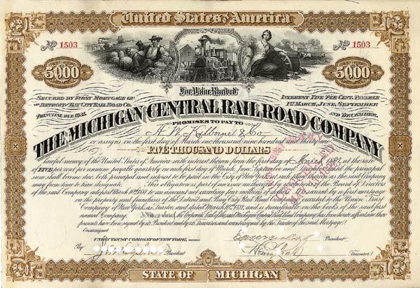 Michigan Central Railroad Company - Bond