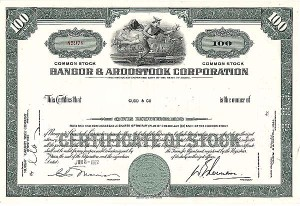 Bangor and Aroostook Railroad Company - Stock Certificate