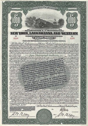 New York, Lackawanna and Western Railway Company - Bond