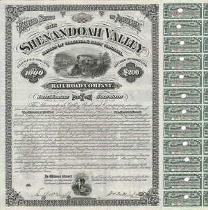 Shenandoah Valley Railroad Company - Bond