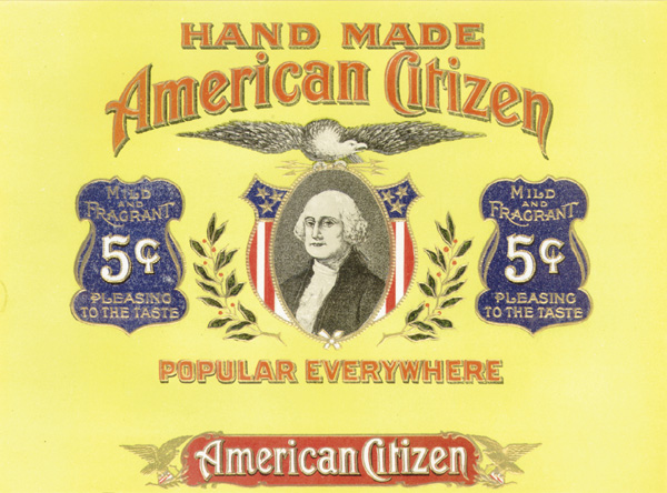 "Cigar Box Label ""American Citizen"""