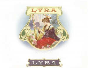 "Cigar Box Label ""Lyra"""