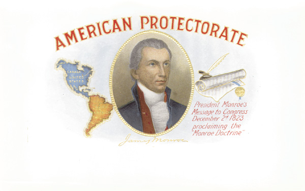"Cigar Box Label ""American Protectorate"""