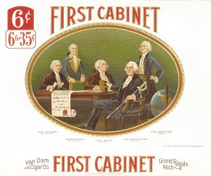 "Cigar Box Label ""First Cabinet"""