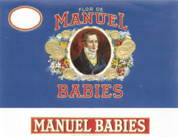 "Cigar Box Label ""Manuel Babies"""