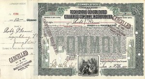 Pocahontas Consolidated Collieries Company, Incorporated - Stock Certificate