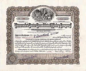 Tamarack & Custer Consolidated Mng - Stock Certificate