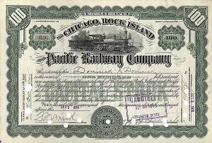 Chicago, Rock Island & Pacific Railway Company - Stock Certificate