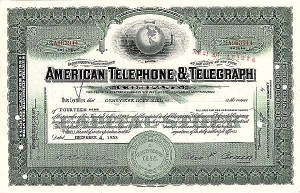 American Telephone & Telegraph Co - Stock Certificate