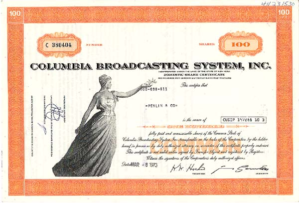 Columbia Broadcasting System, Inc (Called CBS)