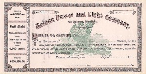 Helena Power & Light Co of Helena, MT