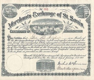 Merchants Exchange of St Louis <br> Certificate of Membership