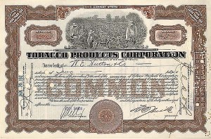 Tobacco Products Corporation - Stock Certificate
