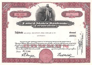 United States Banknote Corporation - Stock Certificate