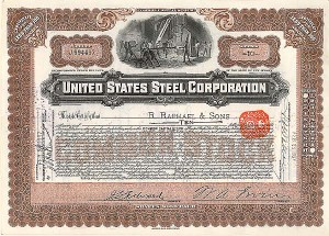 United States Steel Corporation - Stock Certificate