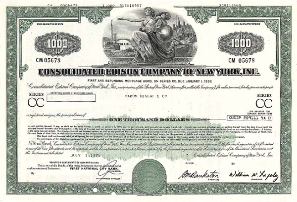 Consolidated Edison Co of New York, Incorporated - Bond