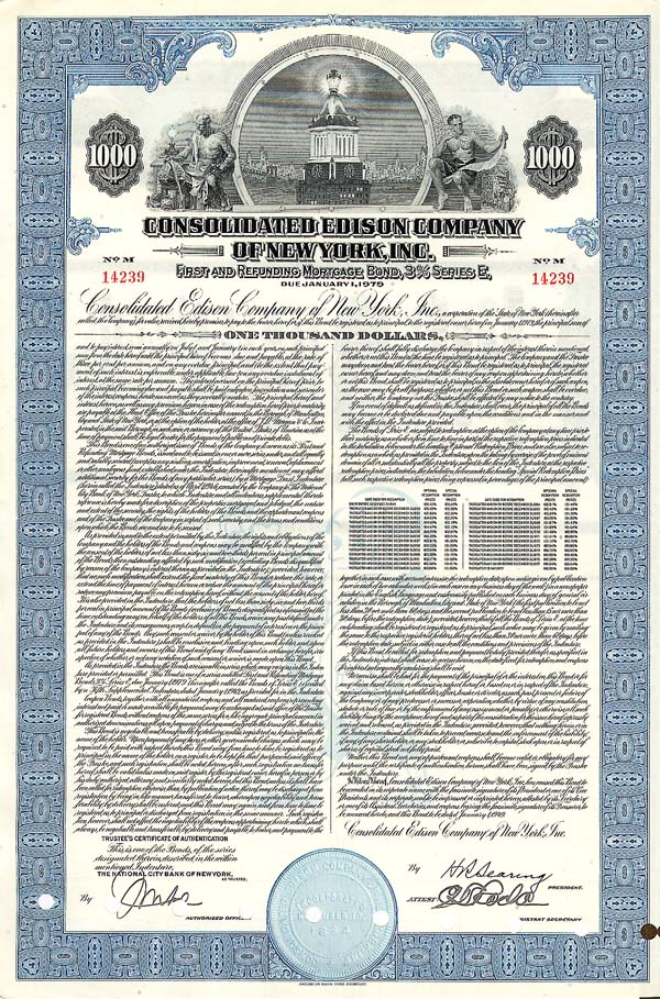 Consolidated Edison Company of NY, Incorporated - Bond