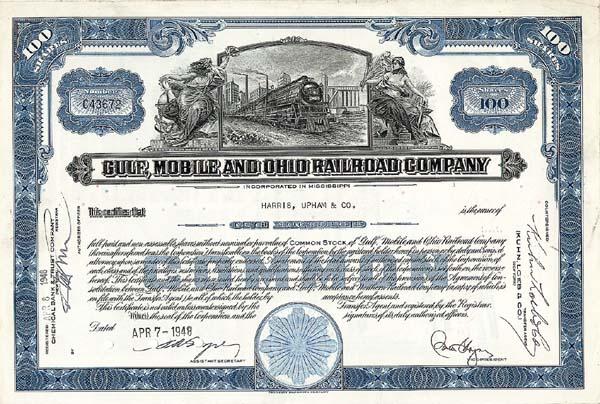 Gulf, Mobile & Ohio Railroad Company - Stock Certificate