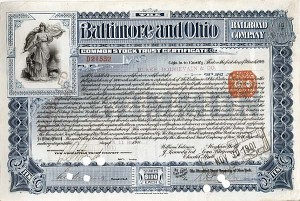 Baltimore and Ohio Railroad Company - Stock Certificate