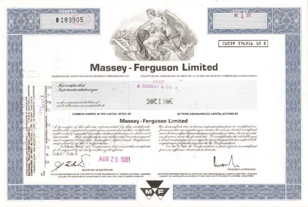 massey ferguson ltd essay Massey ferguson - wikipedia millat tractors price list pakistan history of the millat tractors limited economics essay.