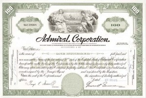 Admiral Corporation - Stock Certificate
