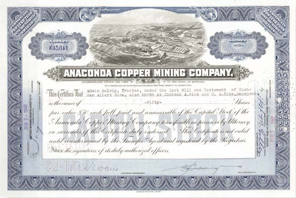 Anaconda Copper Mining