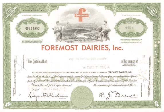Collectible foremost dairies inc for Foremost homes price list