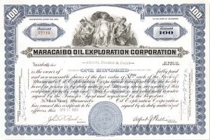 Maracaibo Oil Exploration Corp - Stock Certificate