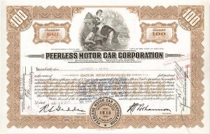 Peerless Motor Car Corporation - Stock Certificate