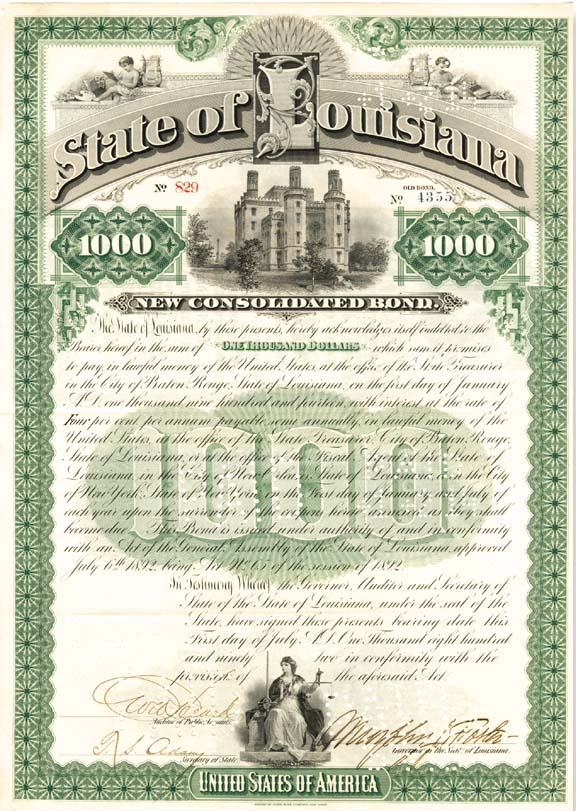 State of Louisiana Bond