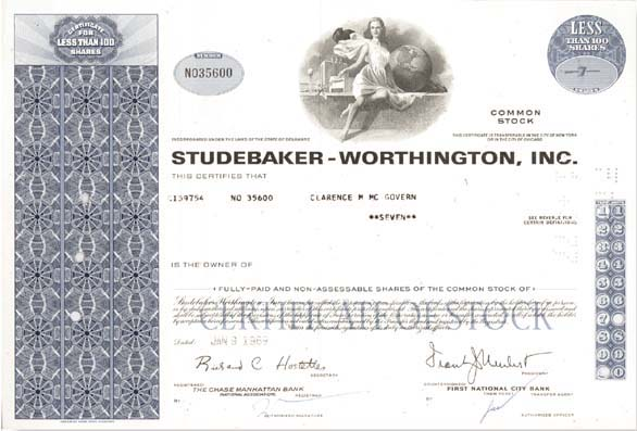Studebaker-Worthington, Inc