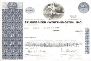 Studebaker-Worthington, Inc. - Stock Certificate
